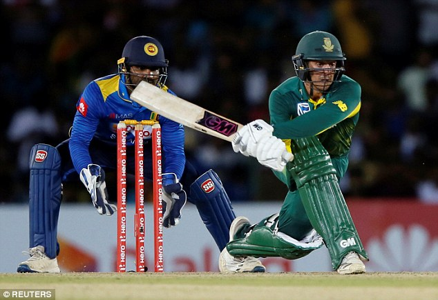 The South African batsman hit 13 fours and a six in his innings to put help his side to victory