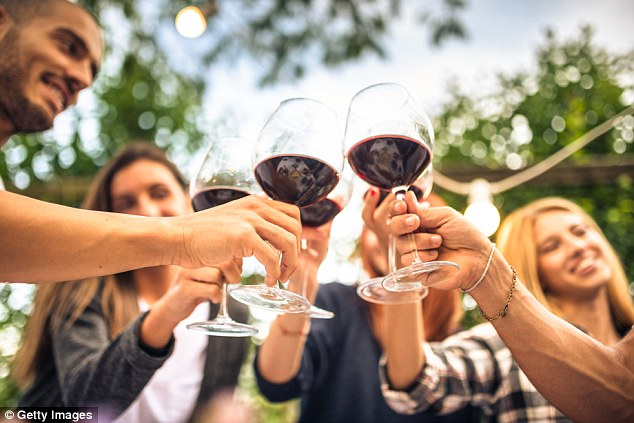 Researchers said low amounts of alcohol can have a protective effect on the heart, reducing the risk of cardiovascular diseases such as stroke – though problem drinkers were at a far greater risk