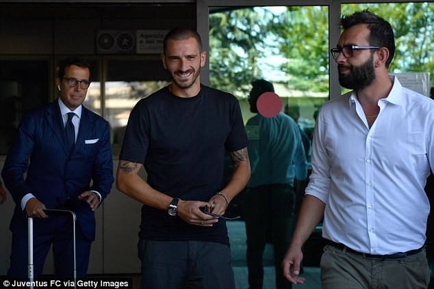 Bonucci left Turin for the San Siro last July, but will be back in black and white this season