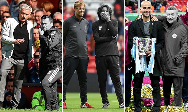 Jose Mourinho, Jurgen Klopp and Pep Guardiola will go into the new season without Rui Faria, Zeljko Buvac and and Domenec Torrent as their assistants for the very first time