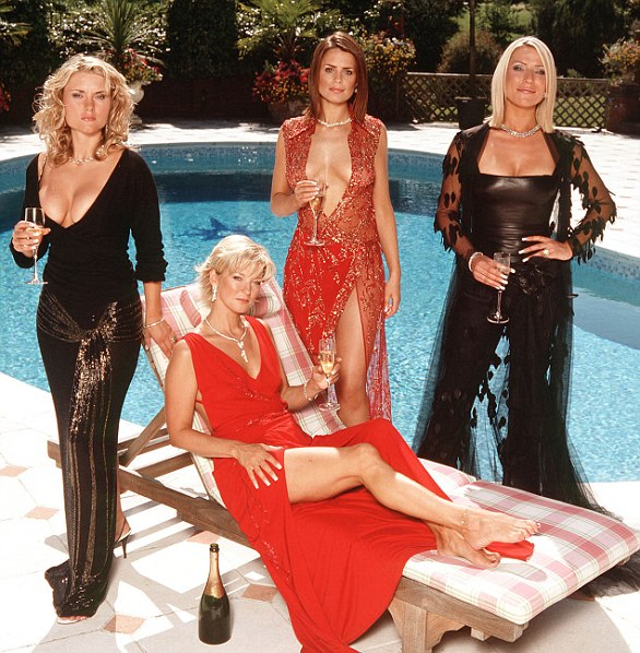 Here Come the Girls: The show's original stars included Zoe, along with Katherine Monaghan, Donna Walmsley, Gillian Taylforth as Jackie Pasco, and Susie Amy, playing Chardonnay Lane Pasco (left-right).