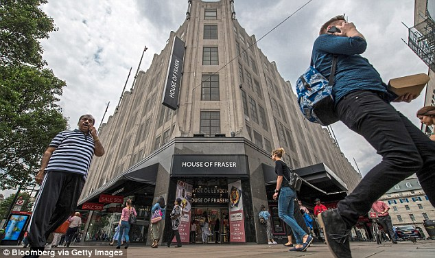 Crisis: Department store House of Fraser has a debt pile of £400 million and is heading for a cash crunch