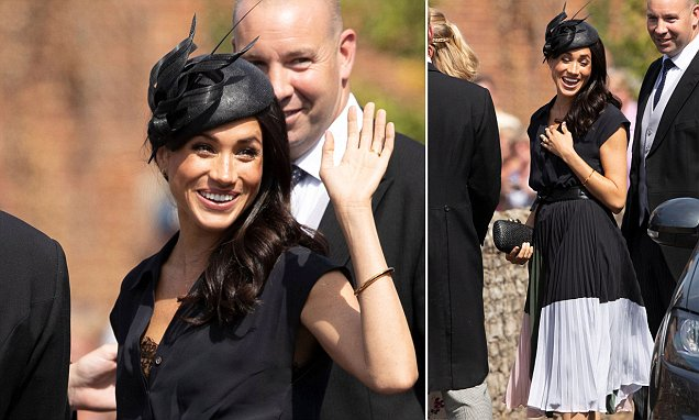 Meghan suffers a wardrobe malfunction at wedding with Prince Harry