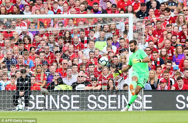 His first meaningful action was a 60-yard pass that flew like a javelin into Mohamed Salah