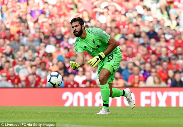 Alisson barely had a save to make and it was his footwork that most impressed his new boss