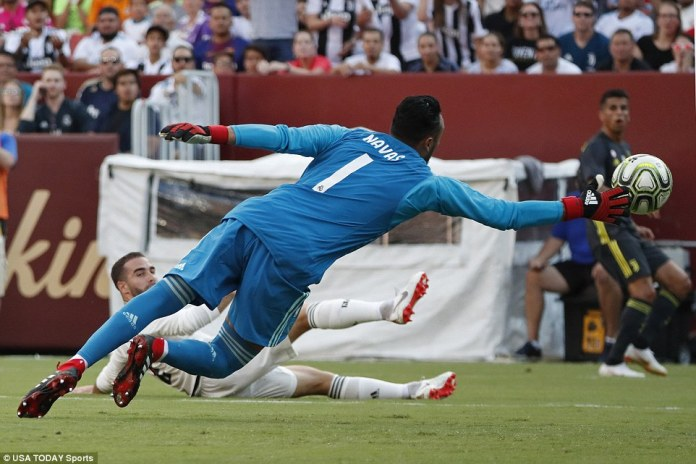Juventus led when Carvajal slid the ball into his own net under minimal pressure, catching goalkeeper Keylor Navas out