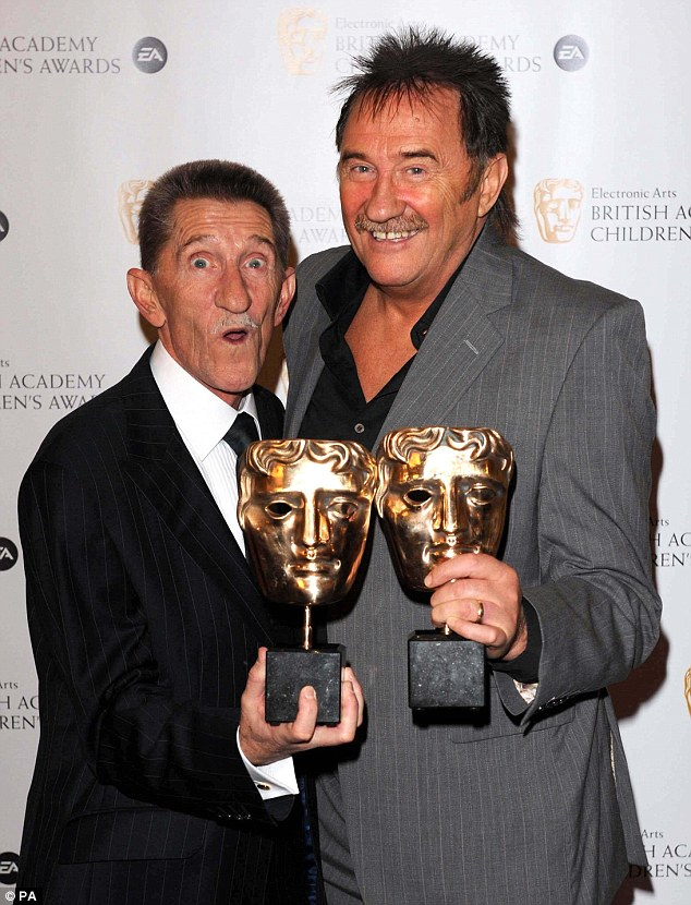 Comedy duo: Veteran entertainer Barry, one half of the Chuckle Brothers, died on Sunday aged 73, following a battle with heart disease