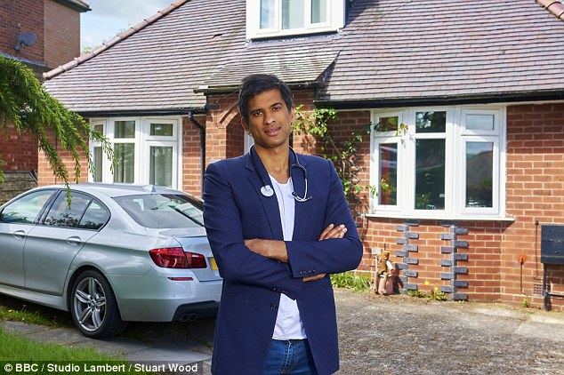 Man in the know: Dr Chatterjee is regularly seen on BBC1's Doctor in The House