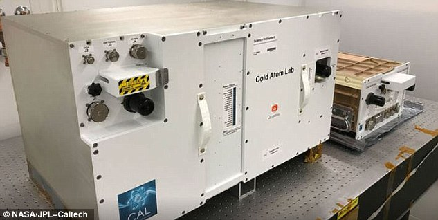 They used a specially equipped chamber on board the ISS called the Cold Atom Laboratory (LAB) which manipulates ultracold quantum gases in microgravity. It consists of two containers. The larger container is called a 'quad locker,' and the smaller container is called a 'single locker'