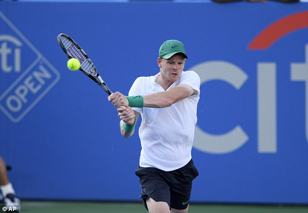 Kyle Edmund, pictured at the Citi Open last week, suffered a heavy defeat at the Rogers Cup