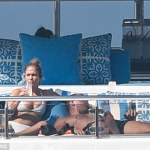 Jennifer Lopez and Alex Rodriguez on a yacht in Capri