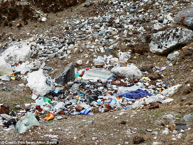 The waste is to satisfy the demands of the 50,000 tourists who now visit the park annually ¿ easily rising to 100,000 non-Sherpa visitors including porters