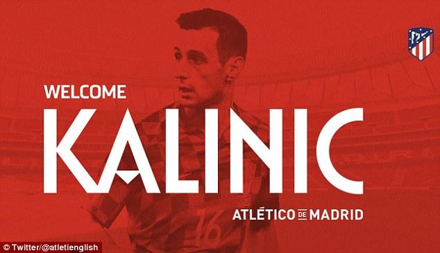 Atletico Madrid announced the Croatian striker's arrival on social media on Thursday