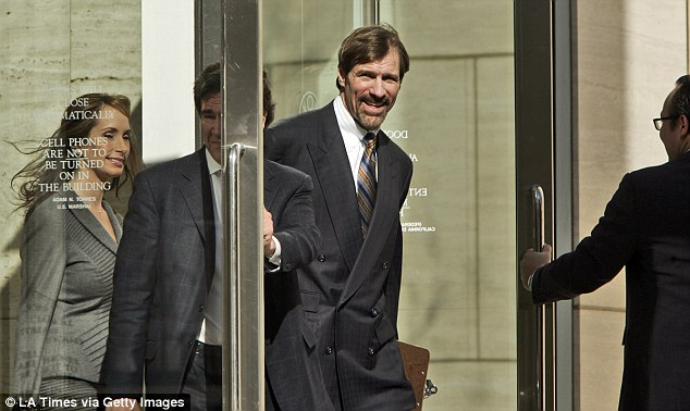 In 2008, Nicholas was indicted on securities fraud, conspiracy and federal narcotics charges, which were all later dismissed (pictured leaving court in 2010 after trafficking charges were dropped)