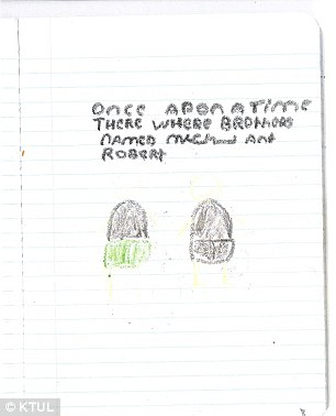 Chilling crayon drawings of murders made by teen who