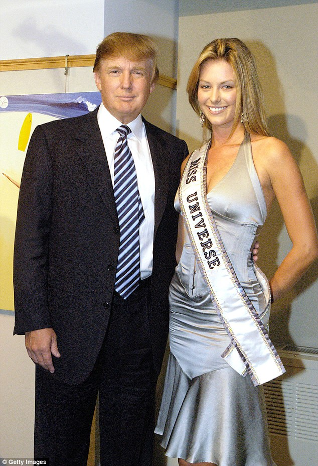 Flashback: Jennifer became the official face of Myer in early 2007, just three years after being crowned Miss Universe Australia (pictured)