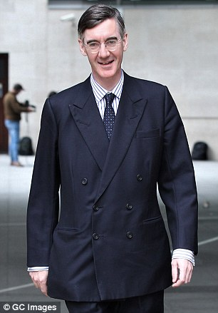 Jacob Rees-Mogg (pictured) has come to the defence of Boris Johnson and said the Conservative Party is being made to look foolish by the fallout