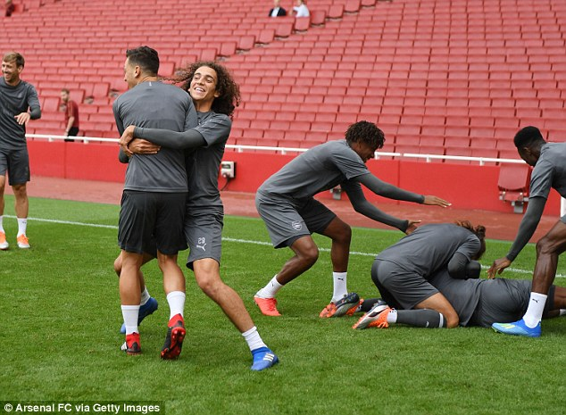 It wasn't all serious however, as the players were able to joke around during the warm-up drills