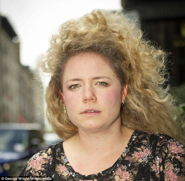 The estranged husband of Louise Reay is suing her over gags she makes about their failed relationship
