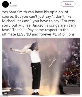 Sam Smith face backlash for saying 'i don't like Michael Jackson'