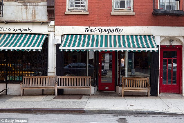Parker contacted Nixon on behalf of Tea & Sympathy (above) a restaurant in her West Village neighborhood that was struggling with rising rent and city fees