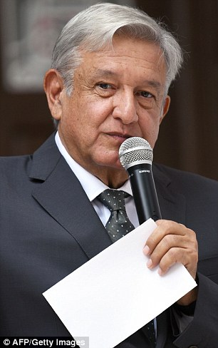 President-elect Andres Manuel Lopez Obrador (pictured) appears to have struck a friendly rapport with Trump since winning the national election in July.