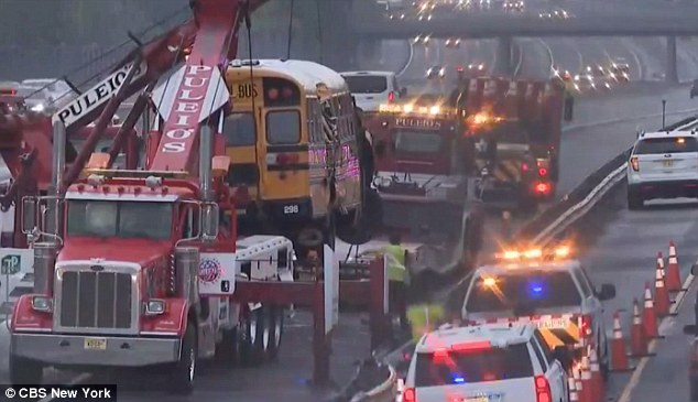 Both the local and express lanes of the turnpike were closed for an hour while New Jersey State Police worked to clear the road