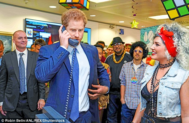 Prince Harry (pictured) called Mr Markle to ask if he had co-operated for shots which showed him, among other things, supposedly being fitted for a wedding suit