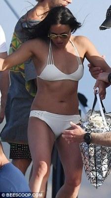 Michelle Rodriguez Cruise in Sardinia