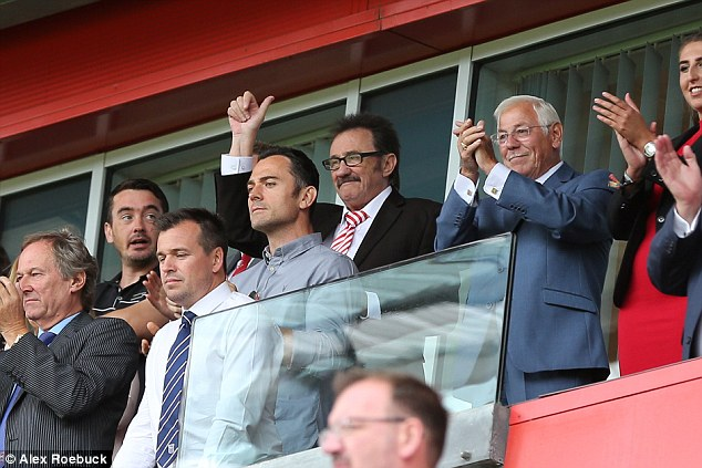 Heartwarming moment: Paul - who with Barry was named honorary vice president of the club in 2017 - took part in a minute applause before kickoff
