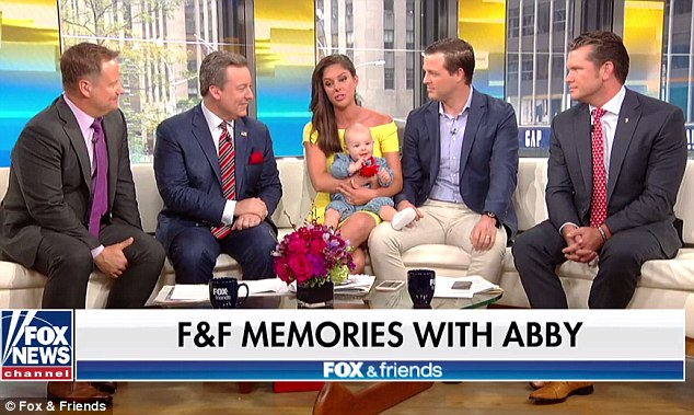 Fox News personality Abby Huntsman bid a tearful farewell to Fox and Friends Weekends on Sunday before she heads to The View