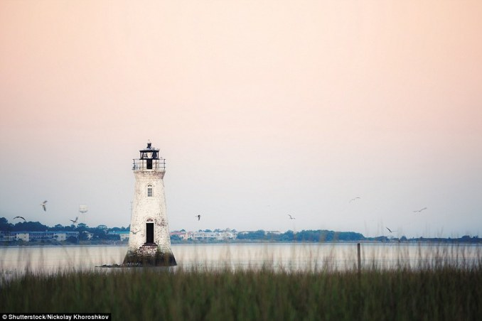 Originally (in 1839) the sea-washed tower of Cockspur Island Lighthouse in Georgia, USA was only a daymark; a light was installed in 1848. The present 46-ft structure was in active service from 1909 to 2007; it is still lit as a historic attraction