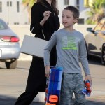 Angelina Jolie spotted with her kids in LA