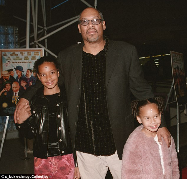 Father: Director and producer Doug McHenry took his daughters Lyric (left) and her younger sister Maya on the red carpet for the launch of the 2008 Pan-African Film Festival in Hollywood. His credits include producing New Jack City and directing Jason's Lyric