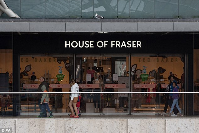 Many of Britain's biggest high street names have had tos hut their doors this year.House of Fraser (pictured) announced last week that it was going into administration - but was rescued at the last minute by Sports Direct owner Mike Ashley who has bought many of the stores