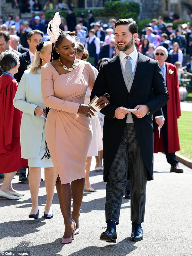 Power couple: Olympia is the first child for Serena and her husband, Reddit co-founder Alexis Ohanian