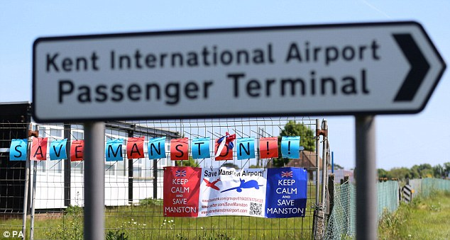 Mothballed:Manston Airporton the Isle of Thanet in Kent has been closed for four years