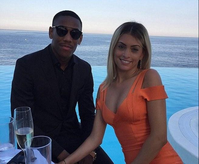 Martial upset Jose Mourinho by leaving Los Angeles to be with his partnerMelanie Da Cruz