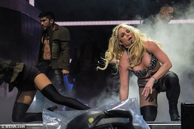 Britney Spears Commands The Stage In A Bejewelled Bra And