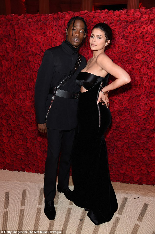 Young mum!Kylie also confessed she wasn't prepared to become a mother for the first time with her beau Travis Scott at the tender age of 20 (pictured in 2018, May, NYC)