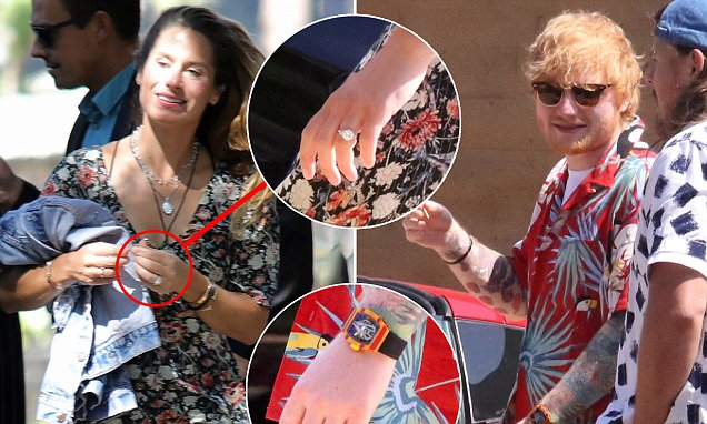 Ed Sheeran And Cherry Seaborn Wear Matching Wedding Bands