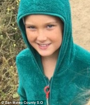 Emily (pictured) and her momset out for their next hotel Pigeon Point on Sunday but never arrived