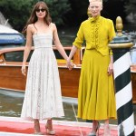 Dakota Johnson's elegant style at movie, Suspiria photocall