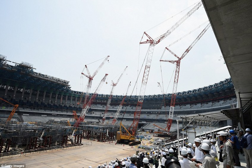The arena is currently under construction and is due to be completed ahead of the World Cup next autumn