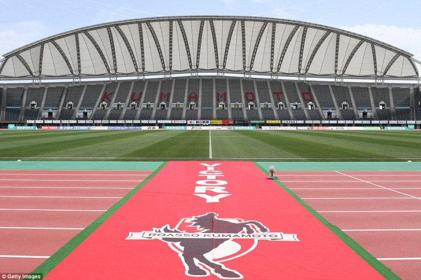 It usually plays host to Roasso Kumamoto, who play in the J2 League but will host Wales vs Uruguay in next year's World Cup
