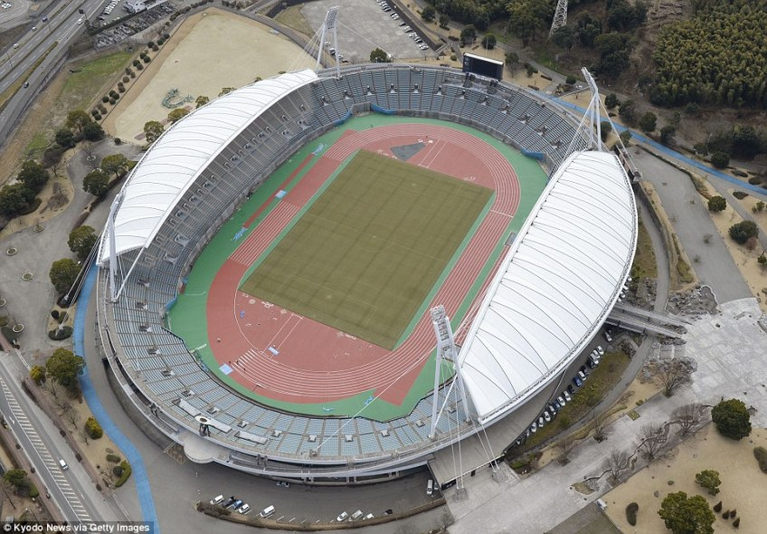 Kumamoto Stadiumis a multi-purpose stadium in Higashi-ku, Kumamoto, Japan which is currently used mostly for football