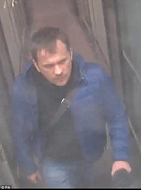 CCTV images from 3pm on Friday, March 2 showPetrov (pictured) and Boshirov arriving at Gatwick airport on a flight from Moscow