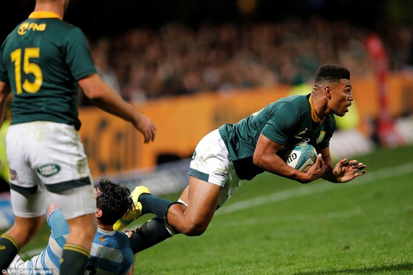 Aphiwe Dyantyi tore England to shreds in June in his first Tests and is already a star with three tries in five games
