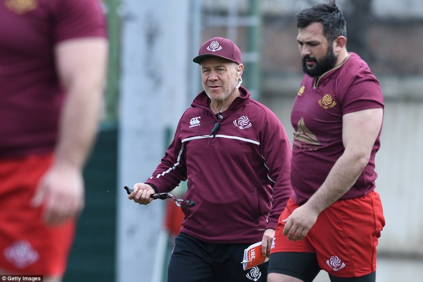 Georgia are managed by Kiwi Milton Haig, who is big mates with England boss Eddie Jones, and have trained with England