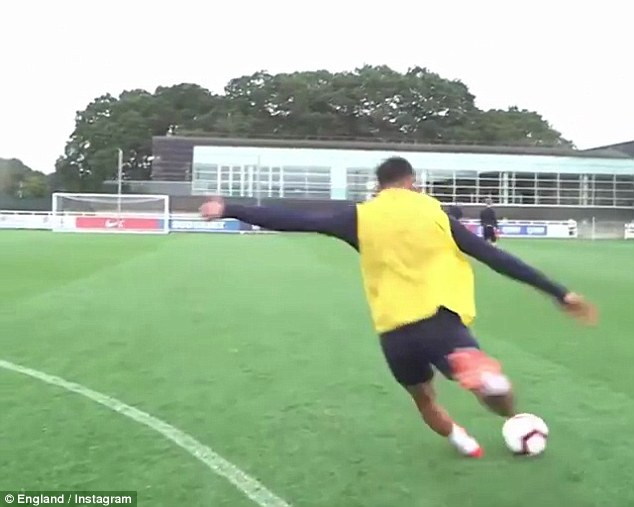 Trent Alexander-Arnold hits the crossbar on cue to settle a debate with Jesse Lingard